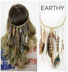 Boho Boutique Earthy Feather Headband Indiánské Leto šperky