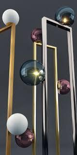 glass floor lamp. Venicem Mondrian Glass Floor Lamp 3d Model Max Obj Mtl Mat 2