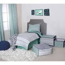 bacati noah tribal mint navy 4 piece toddler bedding set 100 cotton percale fabrics com