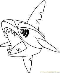 Small Picture Sharpedo Pokemon Coloring Page Free Pokmon Coloring Pages