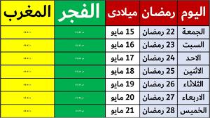 امساكية رمضان تعرف على موعد اذان المغرب والفجر في مصر - YouTube