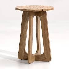 wood end tables crate and barrel