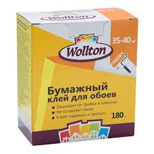 <b>Клей</b> для бумажных <b>обоев</b> Wollton 180 г купить недорого в ...