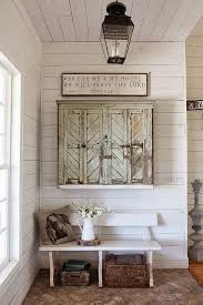 shiplap walls white paint and repurposed furniture are all hallmarks of urban farmhouse image