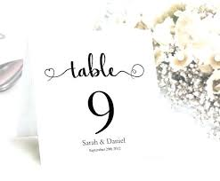 Table Numbers And Place Cards Printable Wedding Card