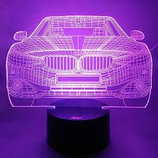 cool lighting pictures. 7 Colors Amazing Optical Illusion 3D Glow LED Lamp Art Sculpture Lights Produces Unique Lighting Effects And Visualization For Home Decor (Cool Car) Cool Pictures T