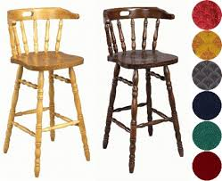 hampton wood bar stool padded or unpadded seat option