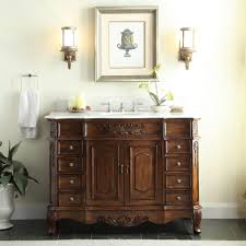 42 Bathroom Vanity Adelina 42 Inch Traditional Old Fashioned Look Bathroom Vanity