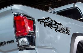 Product: 2 TRD Toyota Tacoma Tundra Decals Vinyl Sticker off road ...