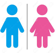 Toilet clipart male and female - Pencil and in color toilet ...