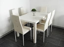 Esstisch Weiß Hochglanz 140 Cm 6 Stühle Weiß Lagerverkauf