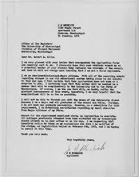 Jackson Appliances Todays Document O James Merediths Letter To The Registrar