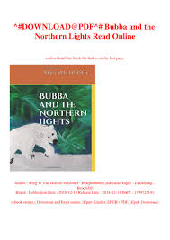 Northern Lights Book Pdf Download Download Pdf Bubba And The Northern Lights Read Online