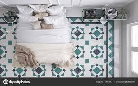 Klassisches Schlafzimmer Ansicht Von Oben Mit Marmor Alte Vintage