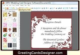 Software For Invitations Rose Wedding Invitation Set Free Software
