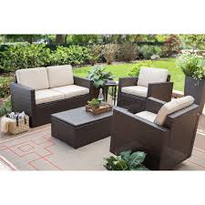 brown set patio source outdoor. Coral Coast Berea Wicker 4 Piece Conversation Set With Storage | Hayneedle Brown Patio Source Outdoor N