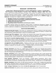 Resume Format For Logistics Manager Cv Template Supply Chain Project