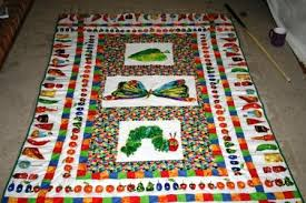 hungry caterpillar baby quilt :D - QUILTING & Overall, its says