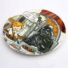 escalope type darth vader and son tableware small bowl small dish plate dish serving plate bowl wooden bowl bowl meal snacks kops kater giftwrapping made of