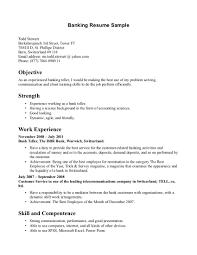 Cover Letter Bank Teller Resume Templates Bank Teller Resume
