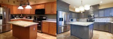 cabinet refacing vs painting which