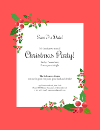 Party Rsvp Template Save The Date Christmas Party Invitation Template