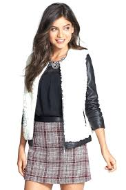 faux leather jacket juniors image of coffee coffee faux leather faux fur jacket juniors