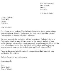 Writing A Recommendation Letter For A Student Format Of Recommendation Letter For Student Innovanza Co