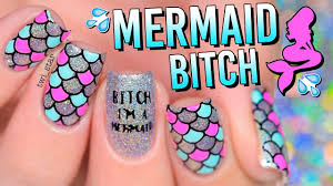 Bitch I m a holo Mermaid a Unicorn 2 For 1 Nail Art YouTube