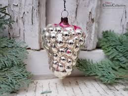 Traube Beere Christbaumschmuck Silber Pink Weihnachtsschmuck Weihnachtsbaum Shabby Weihnacht Nostalgische Weihnachten Hb0943d