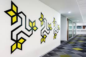 Small Picture All The Wall Graphics In This Office Were Inspired By Indian Folk
