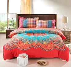 bohemian comforter set king orange king size comforter sets bohemian bedding set thicken cotton in designs