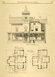 architectural house plans and designs. Vintage Victorian House Plans   1873 Print Home Architectural Design Floor . And Designs E
