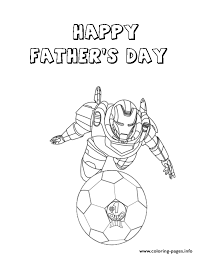 Small Picture iron man and fathers day soccer ball Coloring pages Printable