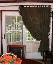 patio door curtains patio door ruffled curtains primitive country style curtains photo al