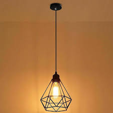 details about industrial wire cage style retro ceiling pendant light lamp shade metal easy fit