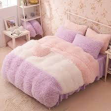 flannel short plush bedding duvet cover set winter style bedding set full queen king