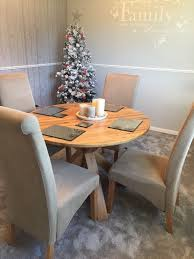 solid oak round dining table and chairs from next immaculate