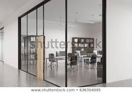 wood office door with glass. Wonderful Door Close Up Of A Glass Office Lobby With Wooden Door Concrete Floor And Inside Wood Office Door With Glass