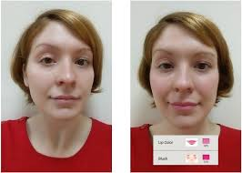 blush before and after. for the eyes, i always start with eyeliner first, then lashes, and finally apply eye shadow. used was a basic liquid black liner that is blush before after s