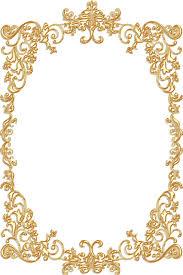 vintage gold frames png 1