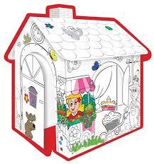 Игровой <b>картонный домик</b> -<b>раскраска</b>, <b>Mochtoys</b> 10721 от ...
