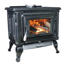 epa certified black enameled porcelain cast iron wood