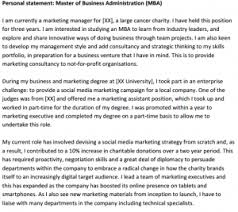Mba Personal Statement Samples – Business Career