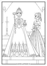 Kleurplaat Van Elsa En Anna Uit Frozen Batik Aurora Sleeping