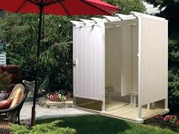 outdoor showers cool shower stall kits plus wooden base and set kit canadian tire wo outdoor shower enclosure