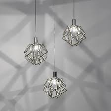 small silver geometric pendant light