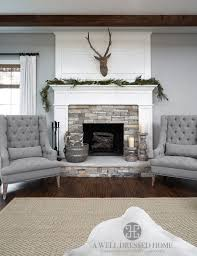 living room with stone fireplace with tv. Aledo Project \u2013 TV Room @ A Well Dressed Home - Shiplap Fireplace Accent Wall With Living Stone Tv
