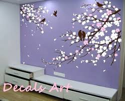 cherry blossom tree wall decal cherry blossom wall mural vinyl wall sticker wall decal tree decals cherry blossom