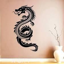 dragon wall decal dragon sticker wall art orient mythology decal vinyl home interior design murals living dragon wall decal